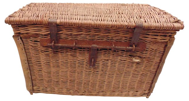 19th-C. French Market Basket