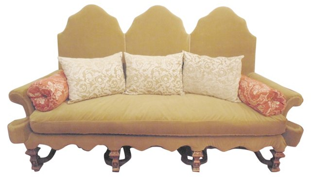 Moroccan-Style Sofa w/ Pillows