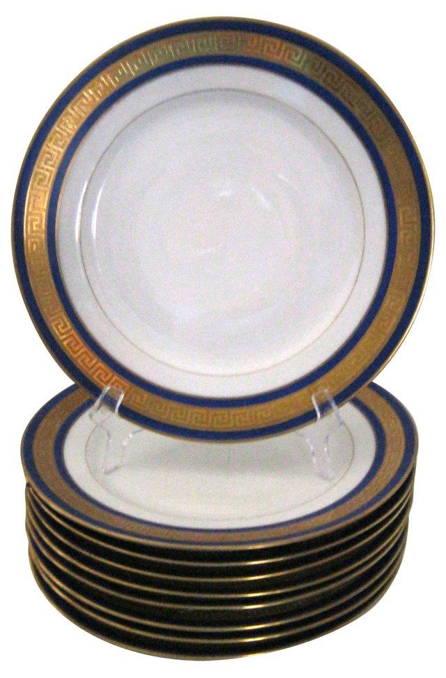 Limoges Dinner Plates, Set of 9