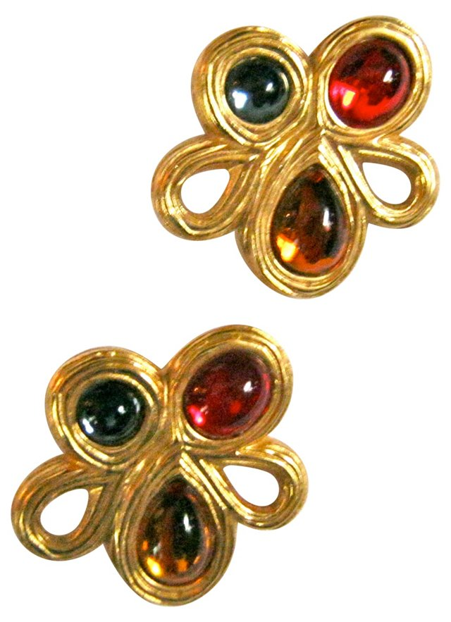 1980s Givenchy Clip Back Earrings