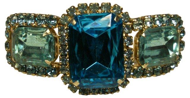 Glass Topaz & Rhinestone Bracelet
