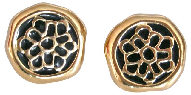 Givenchy Enamel Goldtone Earrings