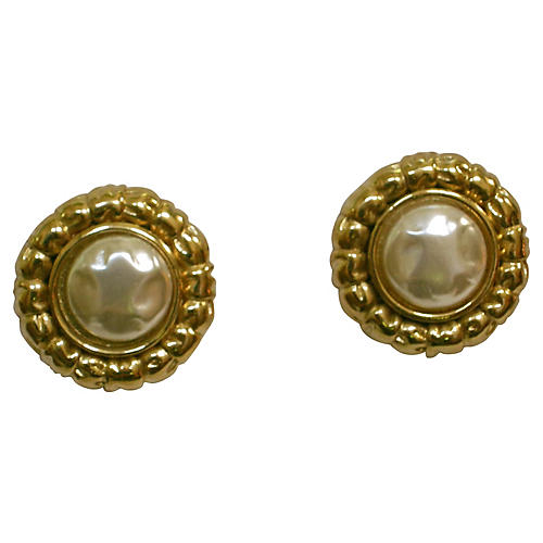 Givenchy Baroque Glass Pearl Earrings