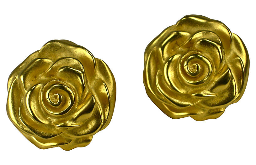Givenchy Rose Matte Detailed Earrings