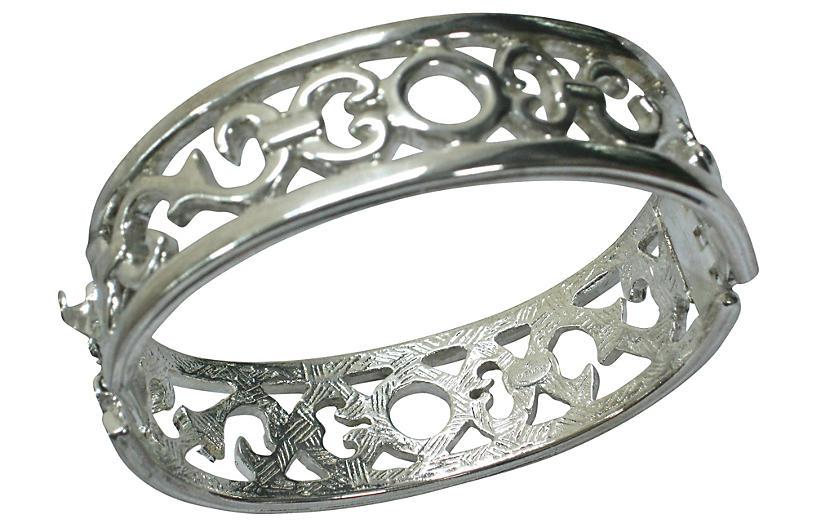 Givenchy Modernist Silver-Plate Bracelet