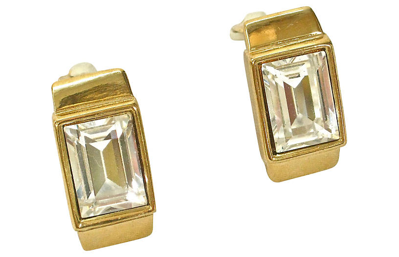 Givenchy Classic Gold Crystal Earrings