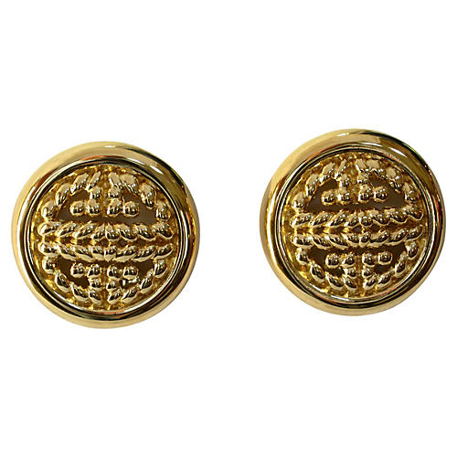 Givenchy Gold-Plated Cable Earrings