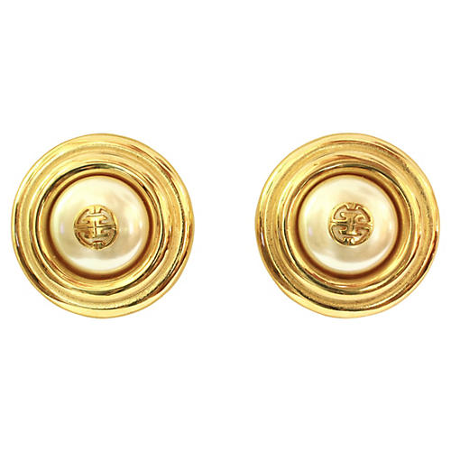 Givenchy Classic Pearl Gold Earrings