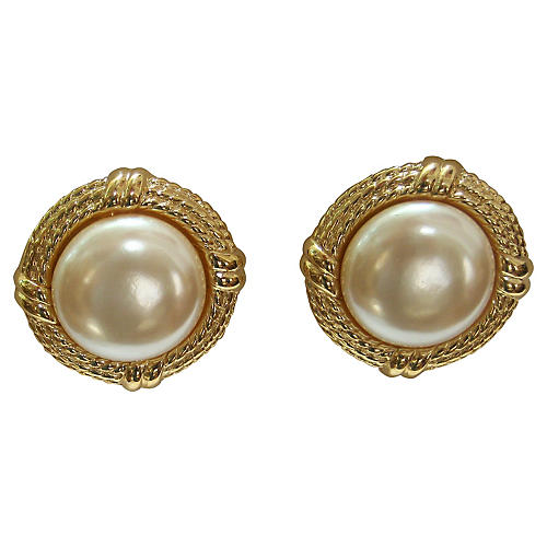 Givenchy Mabe Cable Pearl Earrings