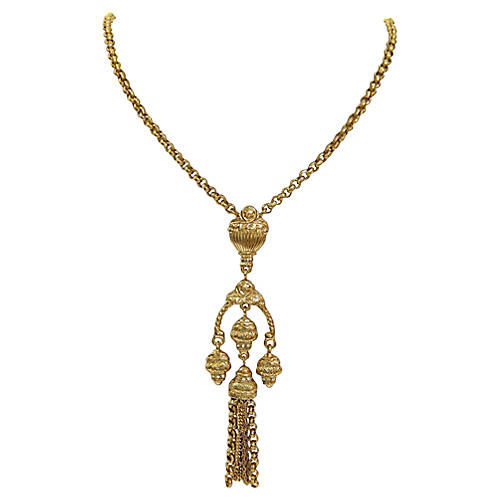Givenchy Grecian-Revival Gold Necklace