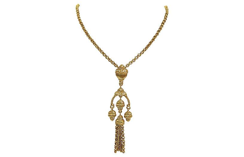 Givenchy Grecian-Revival Gold Necklace