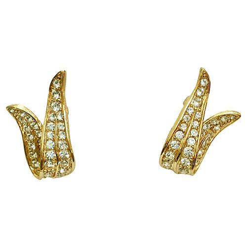 Givenchy Crystal & Gold Earrings