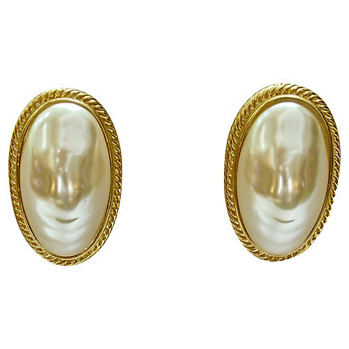 Givenchy Baroque Pearl Earrings
