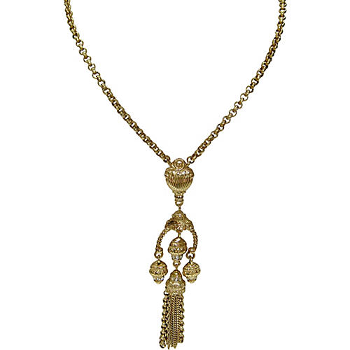 Givenchy Etruscan-Style Tassel Necklace