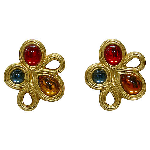 1980s Givenchy Gripoix Earrings