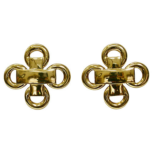 1980s Gold-Plated Earrings