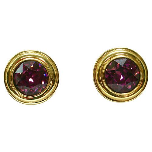 Monet Alexandrite Crystal Earrings
