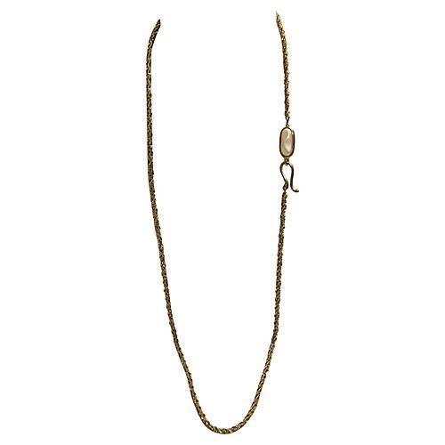 1970s Baroque Pearl Enhancer Necklace