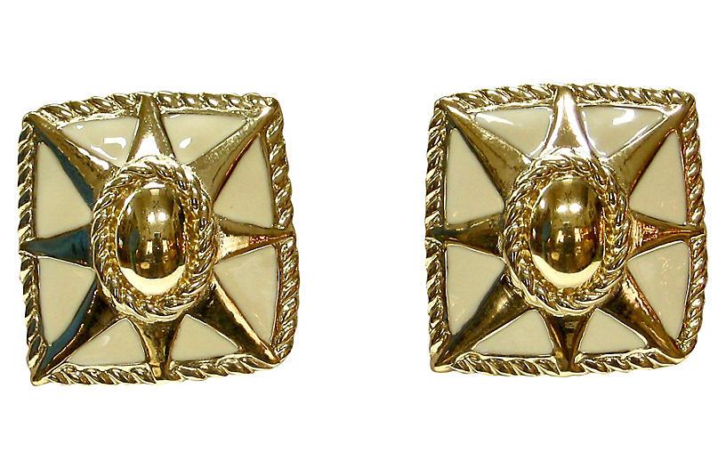 Givenchy Modernist Sunburst Earrings