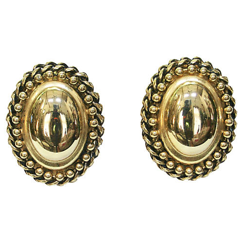 Givenchy Oversize Oval Cable Earrings