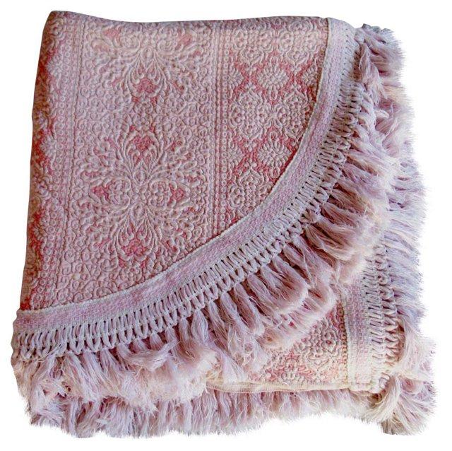 Italian Silk Brocade Bedspread