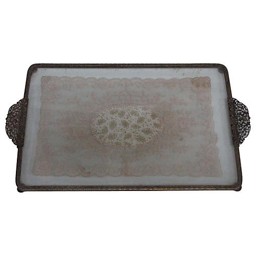 French Lace Vanity Tray