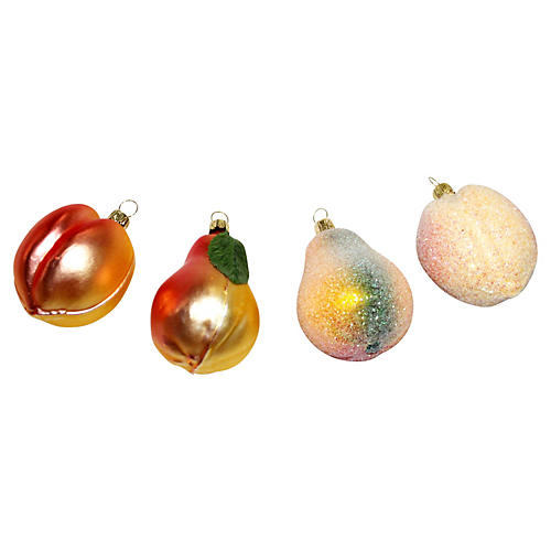 Fruit Ornaments, S/4