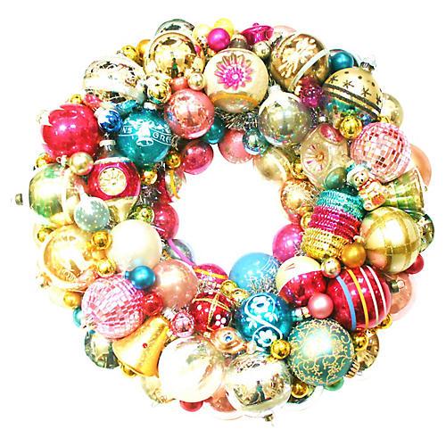 Shiny Brite Ornament Wreath