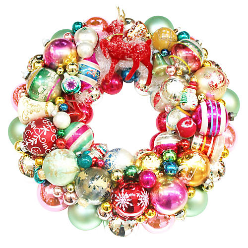 Reindeer Ornament Wreath