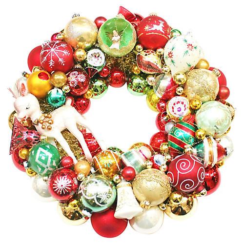Midcentury Reindeer Wreath