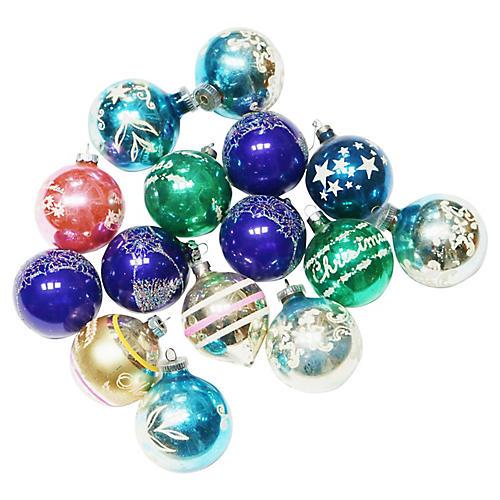 Stars & Stripes Ornaments, S/15