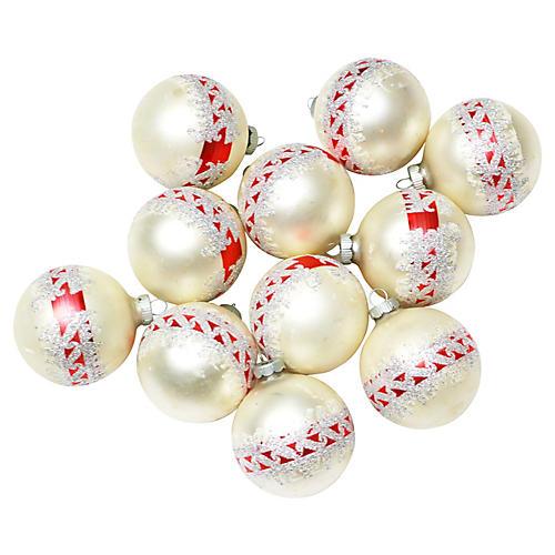 Shiny Brite Ornaments, S/11