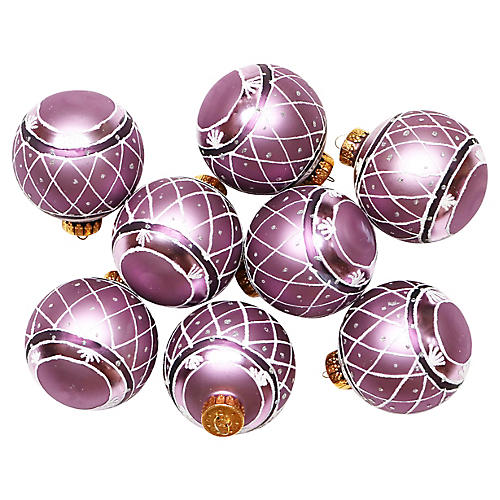 Purple Ornaments, S/8