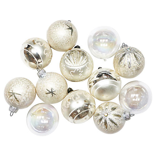 White Ornaments, S/12