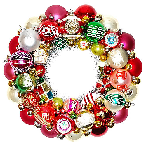 Shiny Brite Ornament Wreath