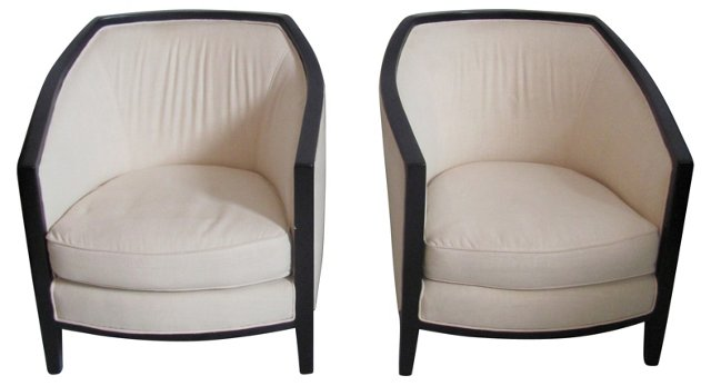 Art Deco-Style   Chairs, Pair
