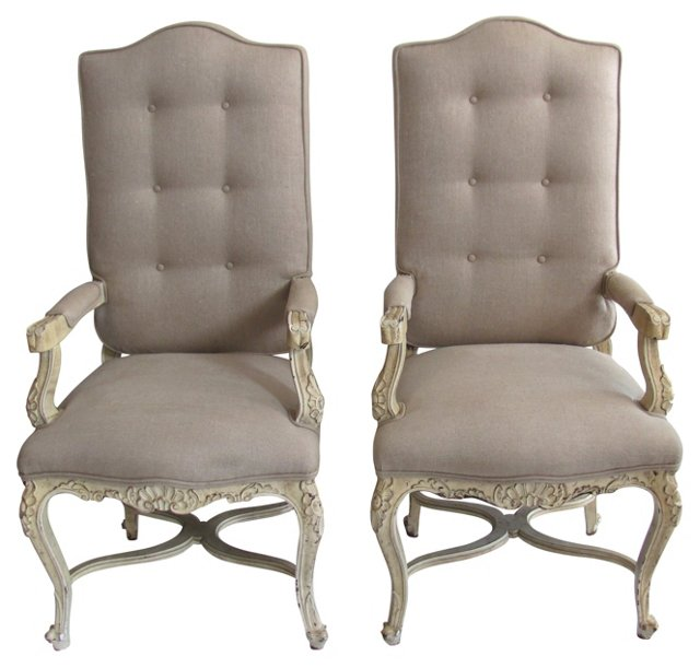 French  Armchairs, Pair