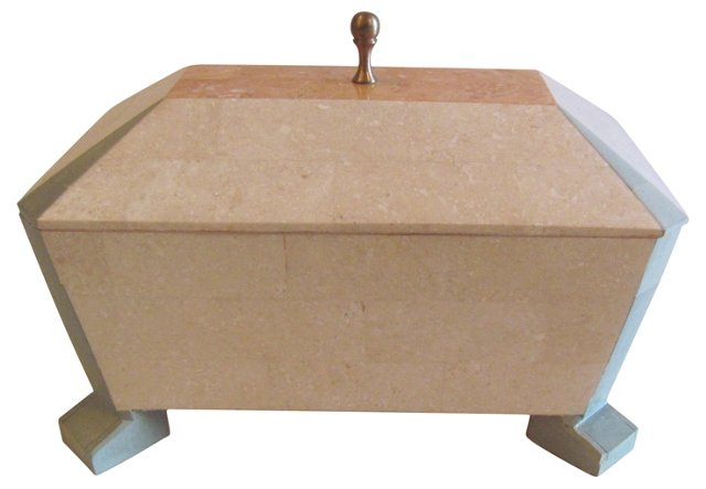 Tessellated Stone Jewelry Box