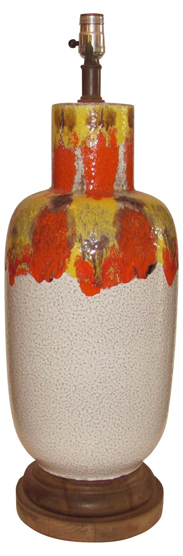 Lava Glazed Ceramic Lamp