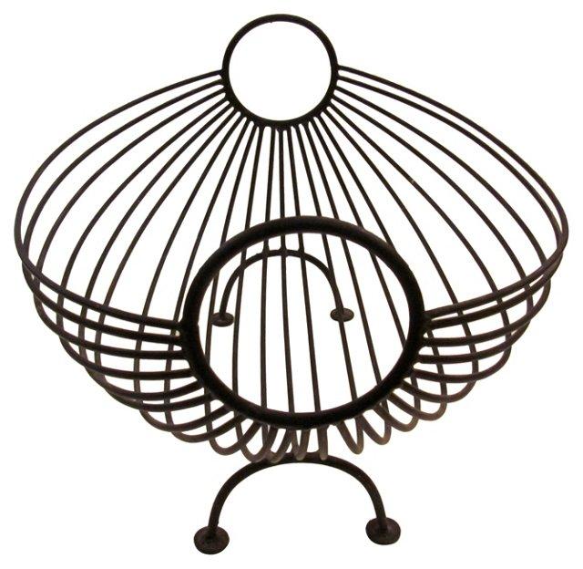 Midcentury Metal Fruit Basket
