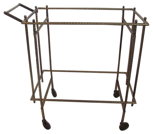 1970s  Rope-Style  Bar Cart