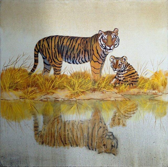 Tiger & Cub by Caroline Reel Schultz