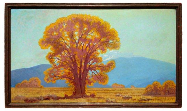 Autumn Oak by Ferdinand Burgdorff