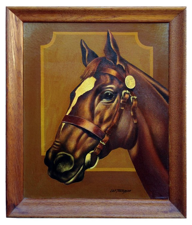 Chestnut Prize Horse by Les Thompson