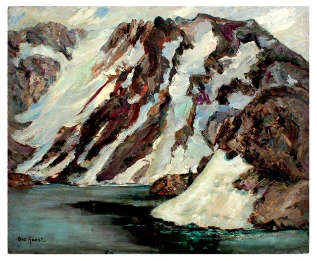 High Sierra Winter Lake by Gleiforst