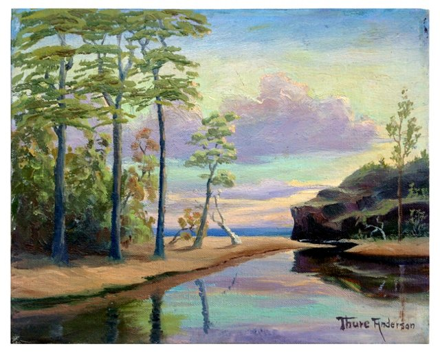 Carmel River and Sea by Thure Anderson