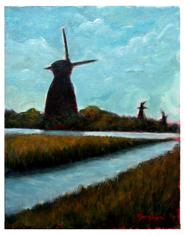 Dutch Windmills by Beverly Borgman