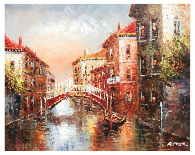 Lovers Bridge Venice, Italy