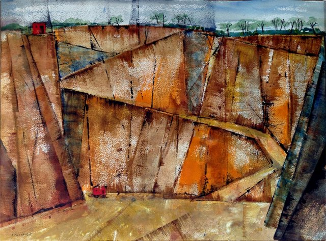 Abstract Landscape by N. Kornfeld