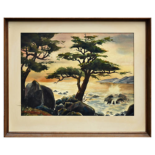 Point Lobos Sunset by Robert W. Price